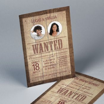Invitación de boda Most Wanted 20859