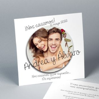 Invitación de boda Sticker 20861