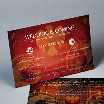 Invitaciones boda Wedding is coming 20214