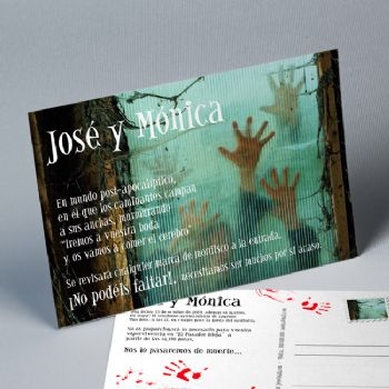 Invitaciones boda Zombies lovers 20217