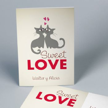 Invitaciones de boda Cats in Sweet Love 19602