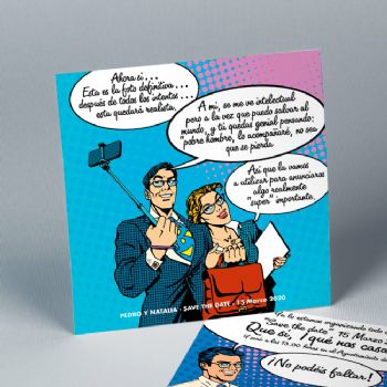 Invitaciones de boda Cómic Divertido 20199