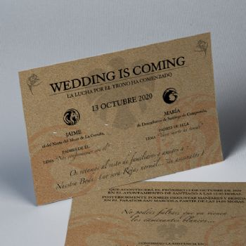 Invitaciones de boda Kraft Wedding is Coming 20251