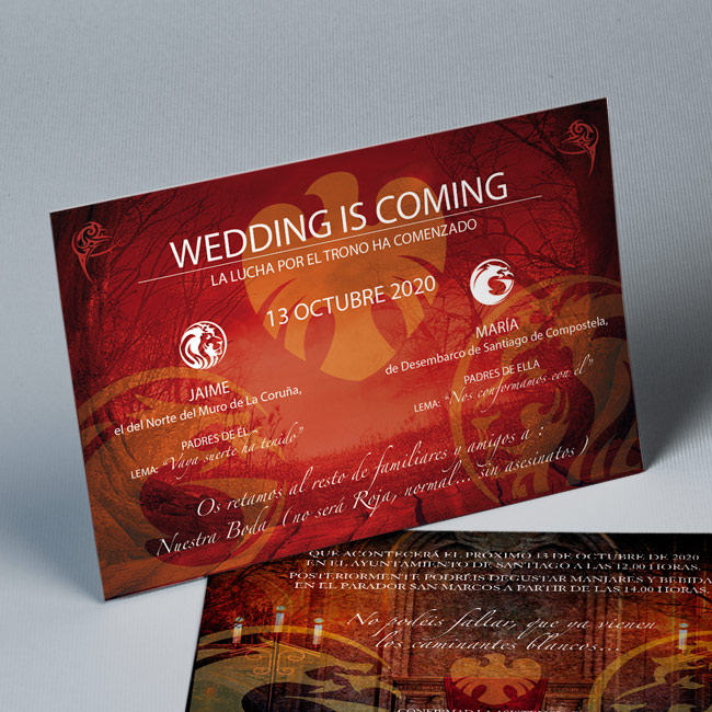 Invitación de boda Wedding is Coming